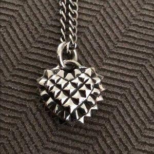 Street Evil Studded Heart Necklace